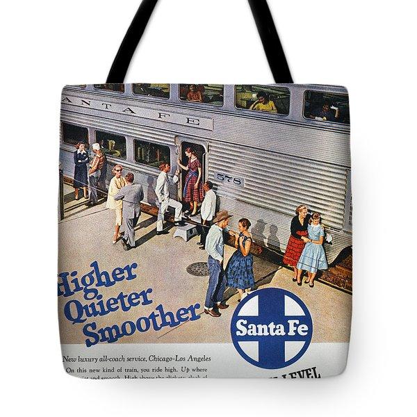 Railroad Ad, 1957 Tote Bag by Granger
