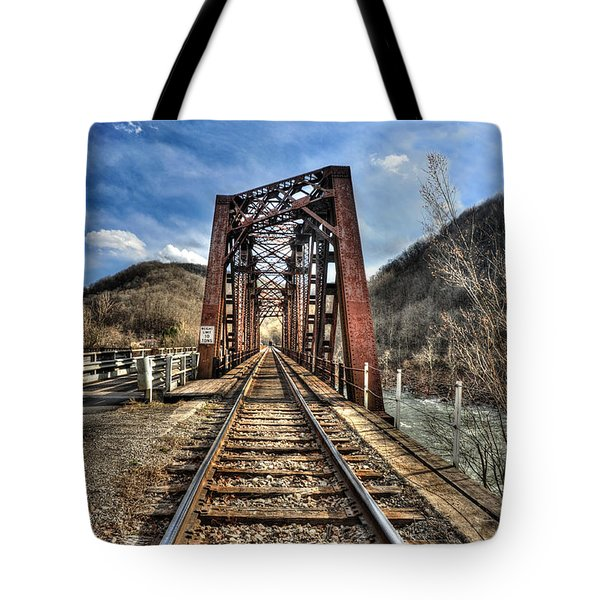Railroad Bridge Into Thurmond Wv Tote Bag by Dan Friend