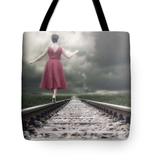 Railway Tracks Tote Bag by Joana Kruse