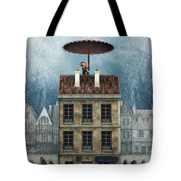 Rain Protection Tote Bag by Jutta Maria Pusl