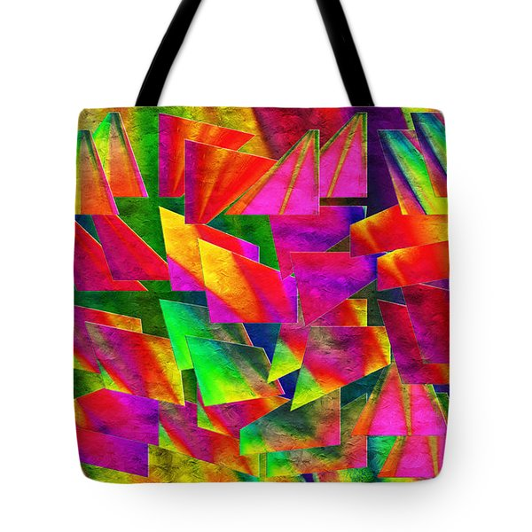 Rainbow Bliss 2 - Twisted - Painterly H Tote Bag by Andee Design