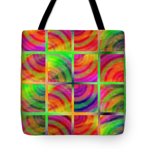 Rainbow Bliss 3 - Over The Rainbow V Tote Bag by Andee Design