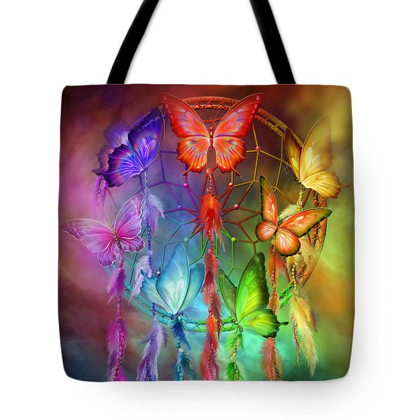 Rainbow Dreams Tote Bag by Carol Cavalaris