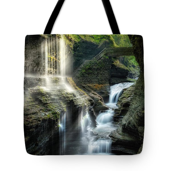 Rainbow Falls Tote Bag by Bill  Wakeley