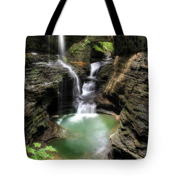 Rainbow Falls Tote Bag by Lori Deiter