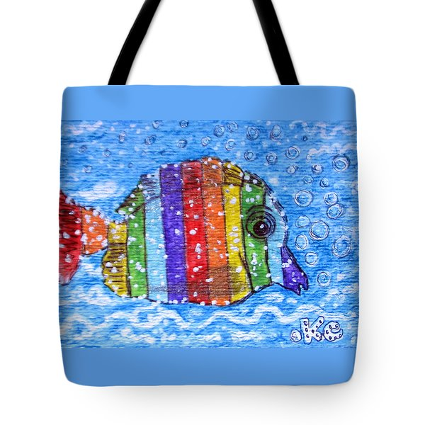 Rainbow Fish Tote Bag by Kathy Marrs Chandler