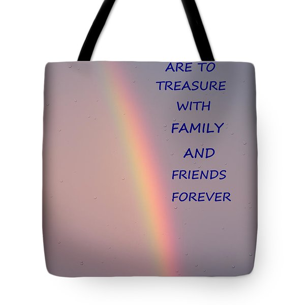 Rainbow Happiness Tote Bag by Joseph Baril