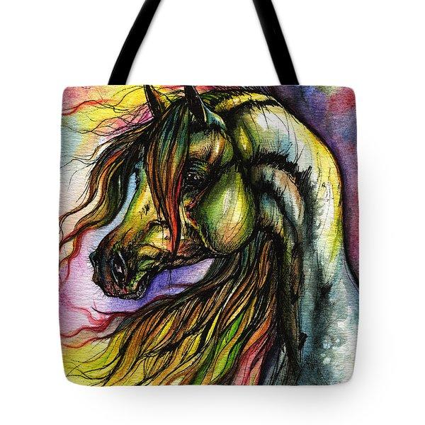Rainbow Horse 2 Tote Bag by Angel  Tarantella