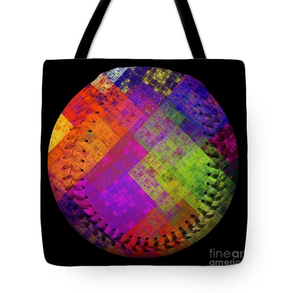 Rainbow Infusion Baseball Square Tote Bag by Andee Design