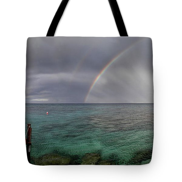 rainbow light Tote Bag by Stylianos Kleanthous