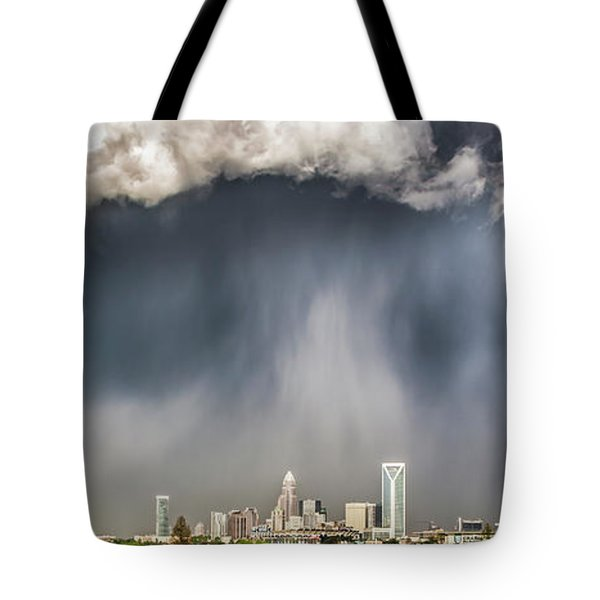 Rainbow Over Charlotte Tote Bag by Chris Austin