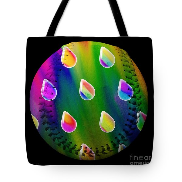 Rainbow Showers Baseball Square Tote Bag by Andee Design