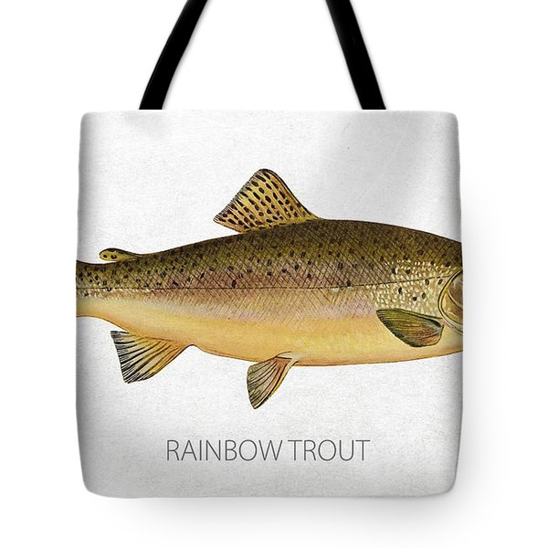 Rainbow Trout Tote Bag by Aged Pixel