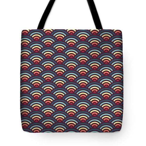 Rainbowaves Pattern Dark Tote Bag by Freshinkstain