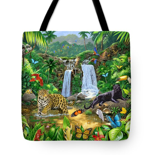 Rainforest Harmony Variant 1 Tote Bag by Chris Heitt