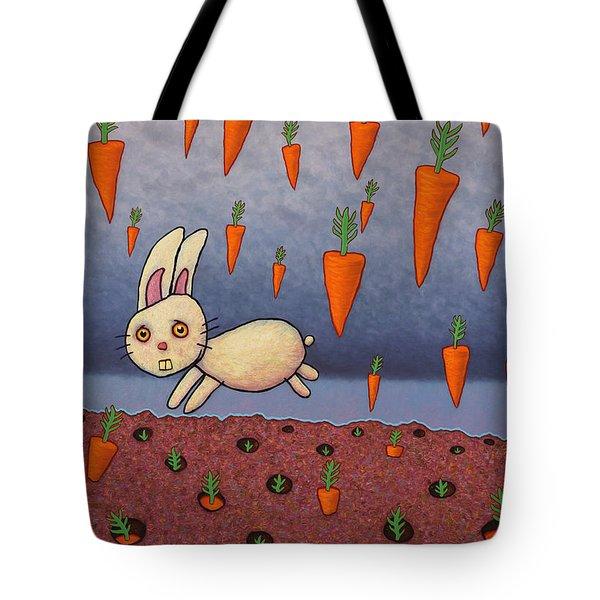 Raining Carrots Tote Bag by James W Johnson