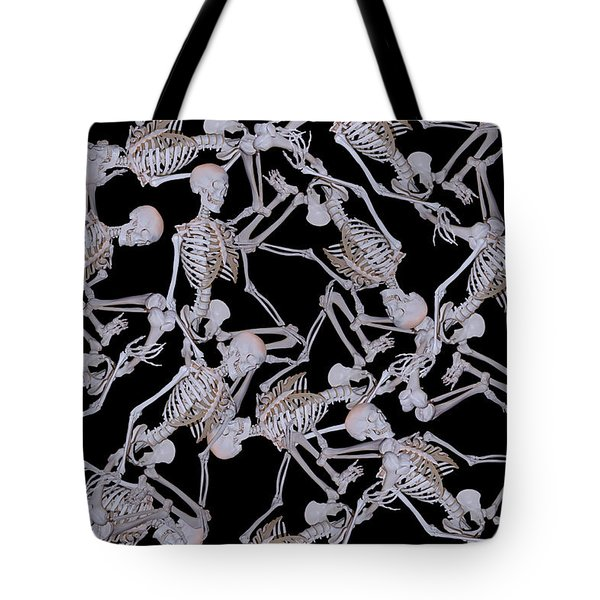 Raining Skeletons Tote Bag by Betsy A  Cutler