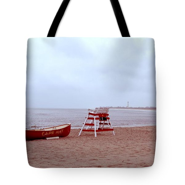 Rainy Day In Cape May Tote Bag by Bill Cannon