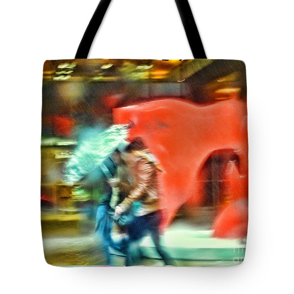 Rainy Day In New York City Tote Bag by Jeff Breiman