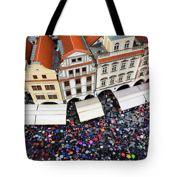 Rainy Day in Prague-1 Tote Bag by Diane Macdonald