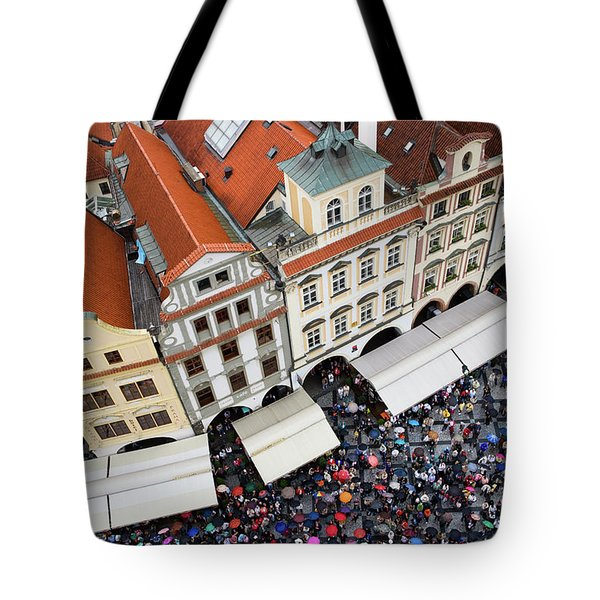 Rainy Day in Prague-2 Tote Bag by Diane Macdonald