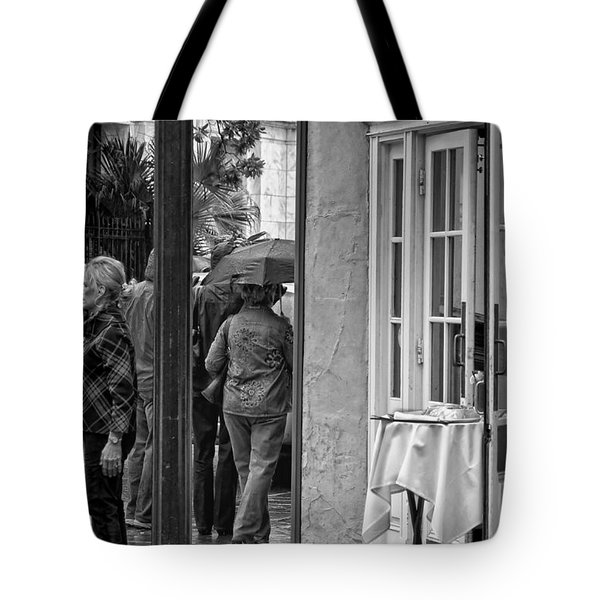 Rainy Day Lunch New Orleans Tote Bag by Kathleen K Parker