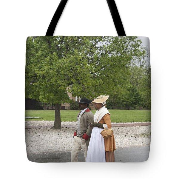 Rainy Day Walk Tote Bag by Teresa Mucha