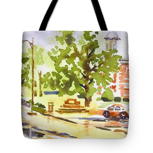 Rainy Days Tote Bag by Kip DeVore