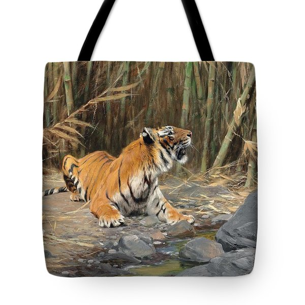 Raising His Voice Tote Bag by Wilhelm Kuhnert