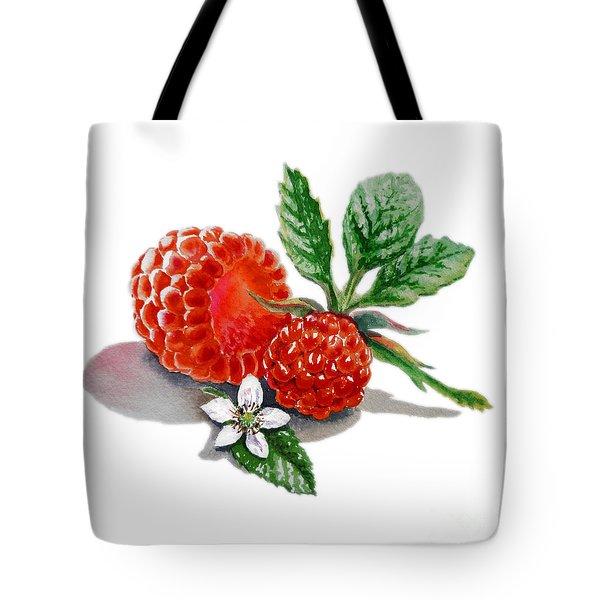 Raspberries  Tote Bag by Irina Sztukowski