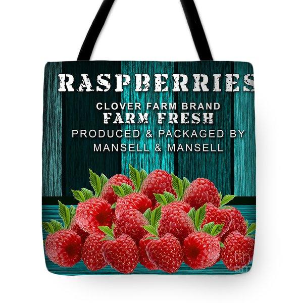 Raspberry Farm Tote Bag by Marvin Blaine