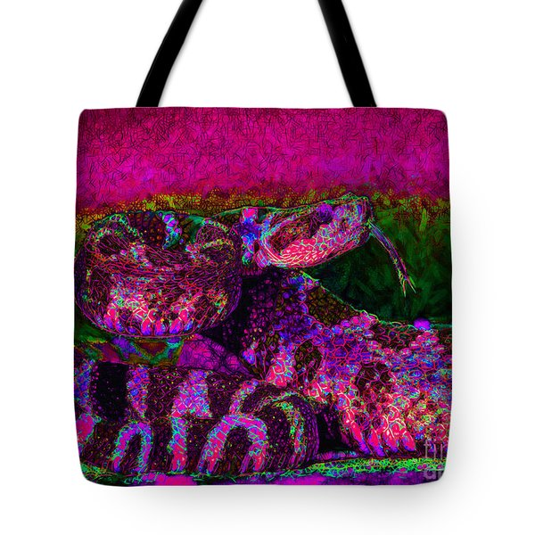 Rattlesnake 20130204m80 Tote Bag by Wingsdomain Art and Photography