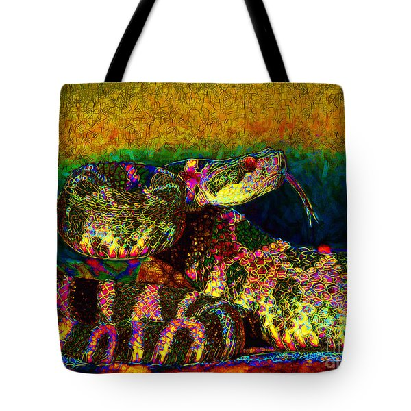 Rattlesnake 20130204p0 Tote Bag by Wingsdomain Art and Photography