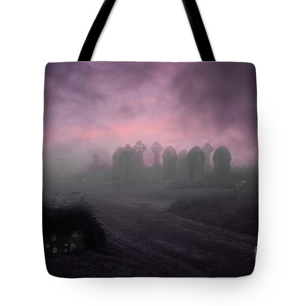 Rave in the Grave Tote Bag by Terri  Waters