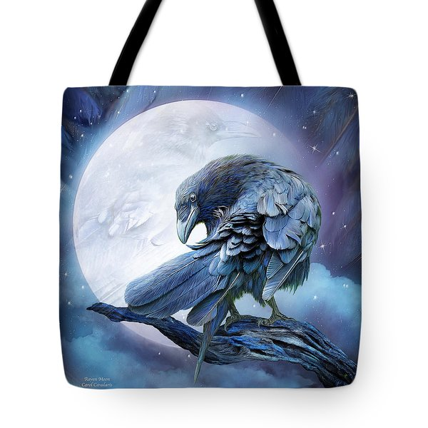 Raven Moon Tote Bag by Carol Cavalaris