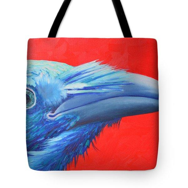 Raven Portrait Tote Bag by Ana Maria Edulescu