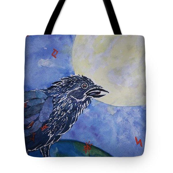 Raven Speak Tote Bag by Ellen Levinson