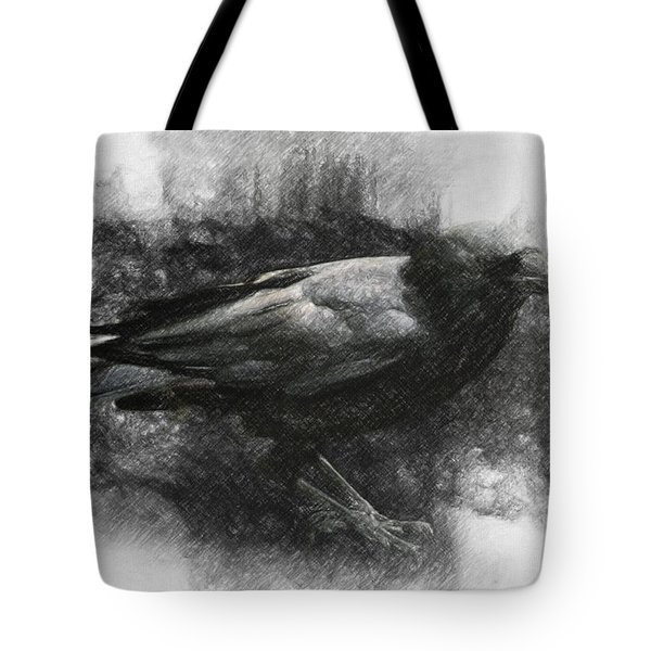 Raven Tote Bag by Taylan Soyturk