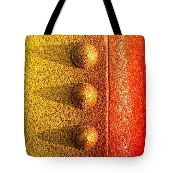 raw steel Tote Bag by Tom Druin