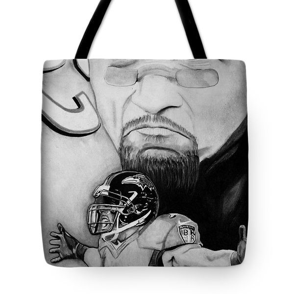 Ray Lewis Tote Bag by Jason Dunning