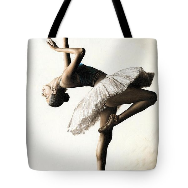 Reaching For Perfect Grace Tote Bag by Richard Young
