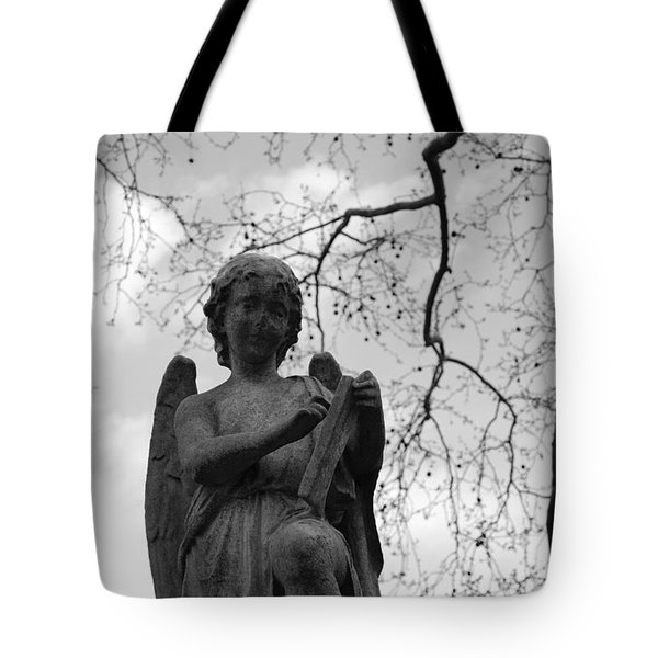 Reading Angel Tote Bag by Jennifer Ancker