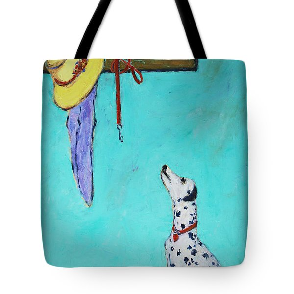 Ready To Go Out Tote Bag by Xueling Zou