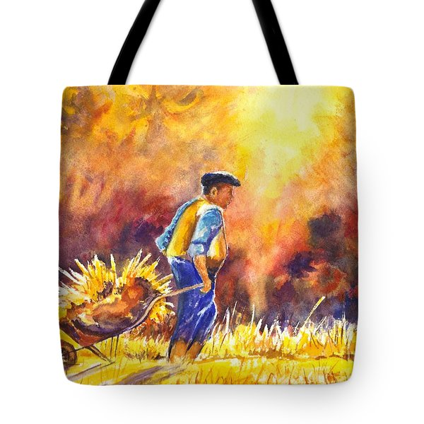 Reaping The Seasons Harvest Tote Bag by Carol Wisniewski