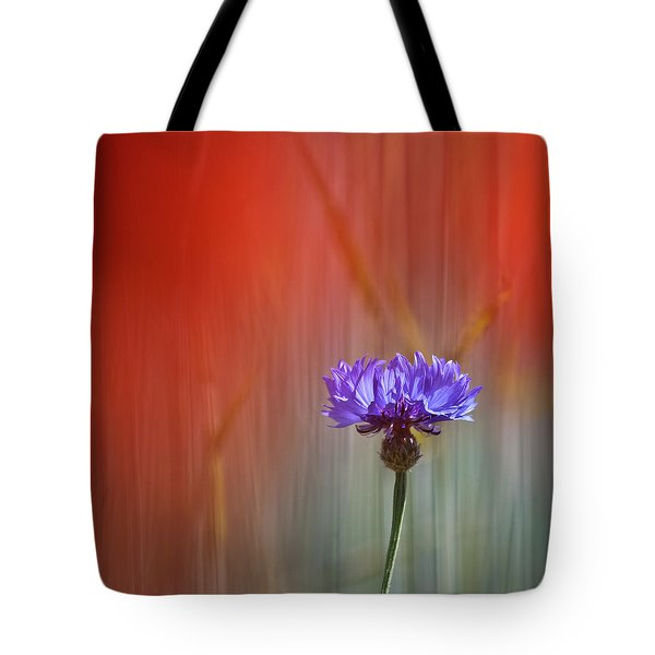 Red And Blue Tote Bag by Heiko Koehrer-Wagner
