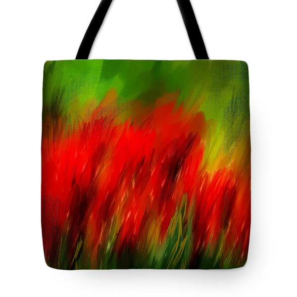 Red And Green Tote Bag by Lourry Legarde