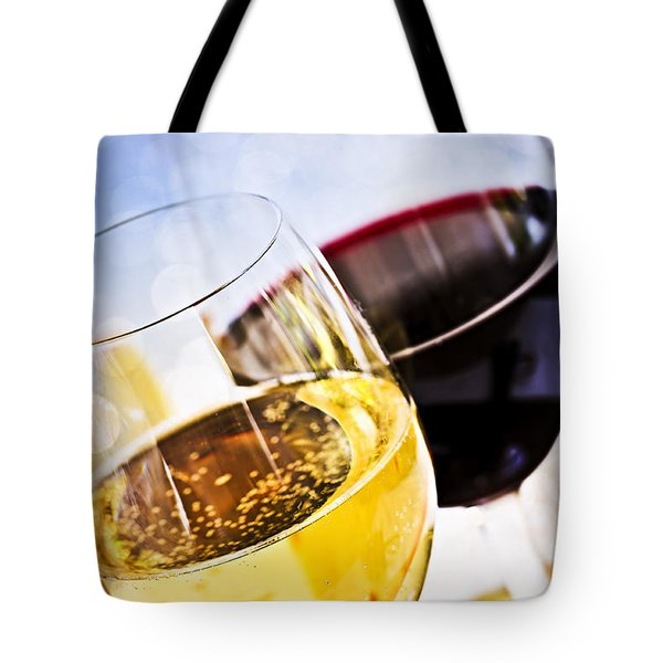 Red and white wine Tote Bag by Elena Elisseeva