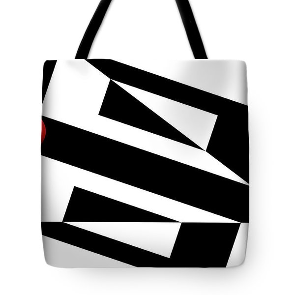 Red Ball 15 Tote Bag by Mike McGlothlen