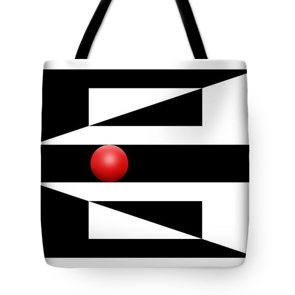 Red Ball 3 Tote Bag by Mike McGlothlen