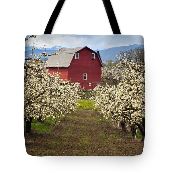 Red Barn Spring Tote Bag by Mike  Dawson